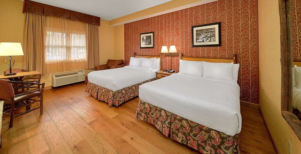 Two Queen Guest Room at the Bearskin Lodge
